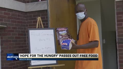 Food giveaway held at Doulas Chapel in South Bend